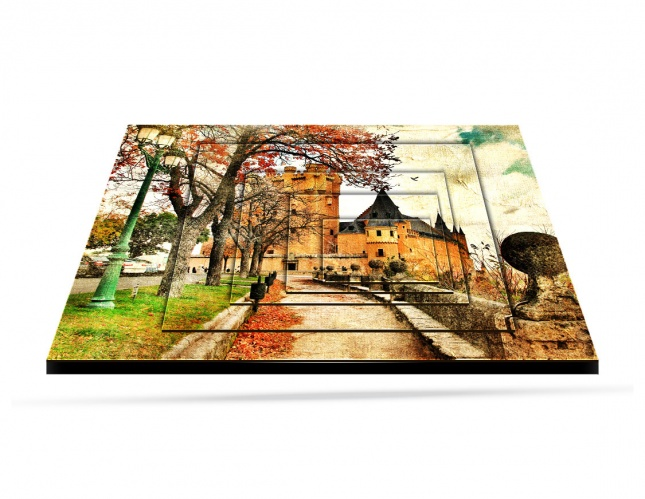 Fairy Alcazar Castle, Inception Art Panel, Digitally Printed On Wood