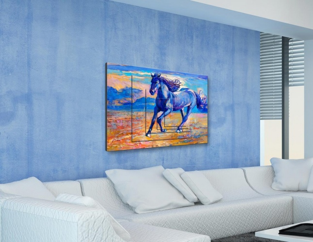 Blue Horse Into The Wild